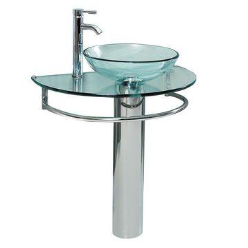 Fresca Attrazione Stainless Steel Vessel Round Bathroom Sink (18-in x 28-in)