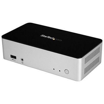 StarTech.com Dual Monitor USB C Dock - Dual DisplayPort - 2.5 SATA SSD/HDD Bay - Laptop Docking