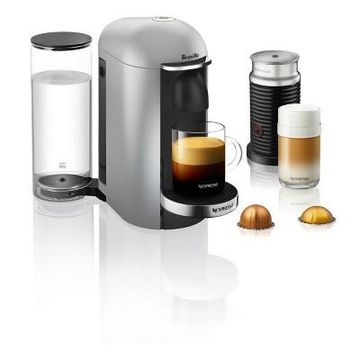 Nespresso VertuoPlus Silver Deluxe Bundle by Breville