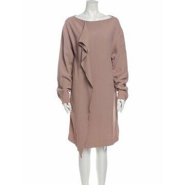 Msgm Bateau Neckline Knee-Length Dress Pink Msgm Bateau Neckline Knee-Length Dress