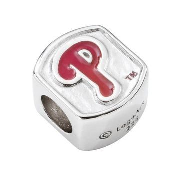 LogoArt Philadelphia Phillies Sterling Silver Bead