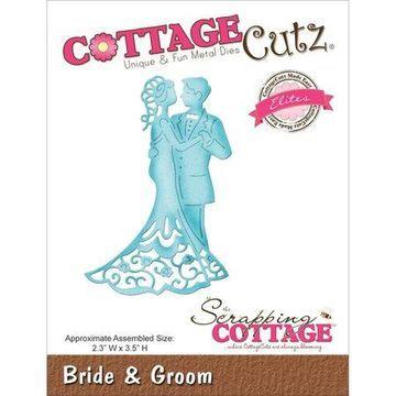 CottageCutz Elites Die-Bride & Groom 2.3