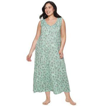 Plus Size Croft & Barrow Smocked Long Nightgown