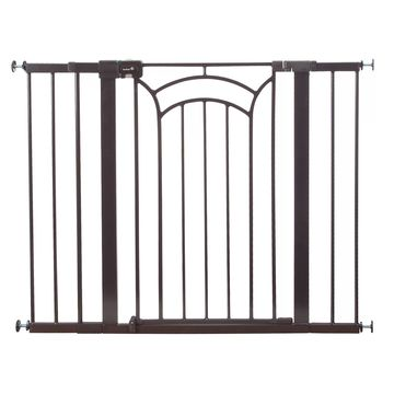 Safety 1st& Easy Install Decor Tall and Wide Walk-Thru Gate in Brown