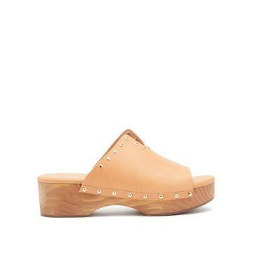 Ancient Greek Sandals - Sagini Leather Clogs - Womens - Tan