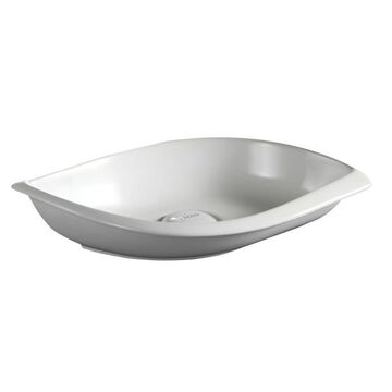Barclay Kai Above Counter Basin White Vessel Irregular Bathroom Sink (9.5-in x 16.25-in)   4-8080WH