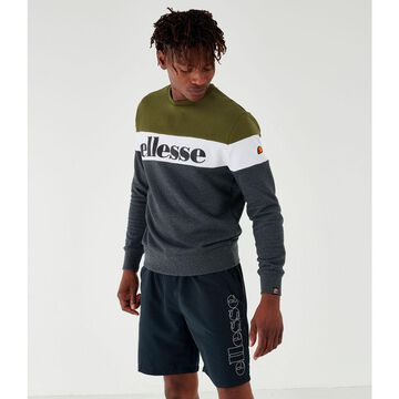 Men's Ellesse Tarins Colorblock Fleece Crewneck Sweatshirt
