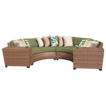 TK Classics Laguna 4-Piece Outdoor Wicker Sofa Set, Cilantro