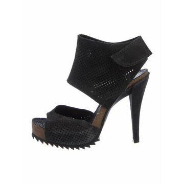 Suede Sandals Grey