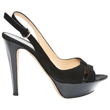 Sergio Rossi Black Suede Heels