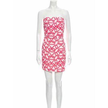 Printed Mini Dress Pink