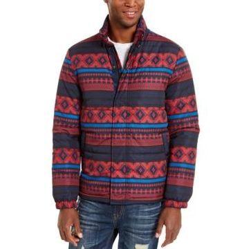 American Rag Men's Geometric Puffer Jacket, Created For Macy's
