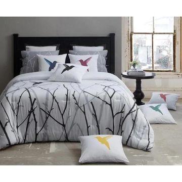 Kensie Vicki Comforter Set - Silver/Black