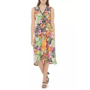 Rafaella Women's Malawi Patchwork Sleeveless Faux Wrap Dress -