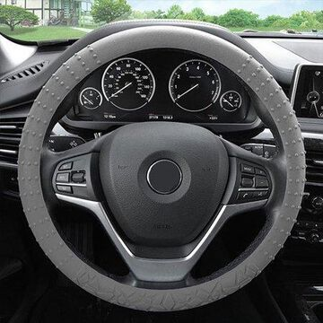 FH Group Universal Fit Gray Textured Silicone Steering Wheel Cover