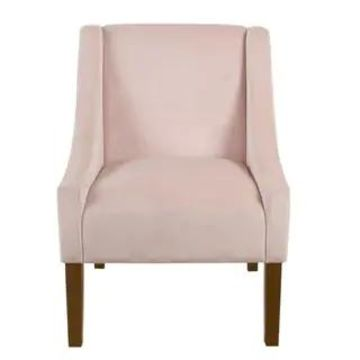 HomePop Modern Swoop Arm Accent Chair (Pink)