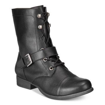 American Rag Womens Farrah Open Toe Ankle Combat Boots