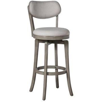 Hillsdale Furniture Sloan Wood Counter Height Swivel Stool, Aged Gray