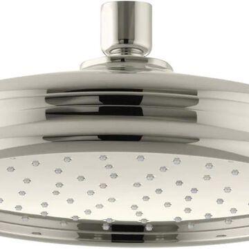 KOHLER Traditional Vibrant Polished Nickel 1-Spray Rain Shower Head 1.75-GPM (6.6-LPM) | K-13692-G-SN