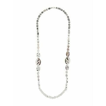Large Senso Disc Station Necklace silver