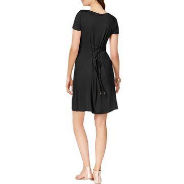 Thalia Sodi Womens Jersey Boatneck Casual Dress