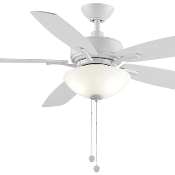 "Fanimation Aire Deluxe 2-Light 52"" 5-Blade Ceiling Fan in Matte White"