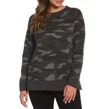 Rafaella Women's Camo Long Sleeve Print Sweatshirt - -