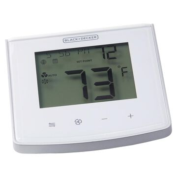 BLACK+DECKER BDXTTSM1 Smart Home Wi-Fi Touch-Key Thermostat with Intelligent Programming