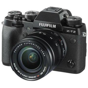''Fujifilm X-T2 Mirrorless with 18-55mm OIS Lens, Black #16519314''