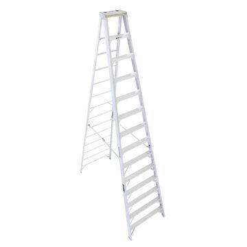 Werner 410 Aluminum 14-ft Type 1A - 300-lb Capacity Step Ladder | 414