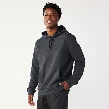 Men's Tek Gear Ultra Soft Fleece Hoodie, Size: Large, Black