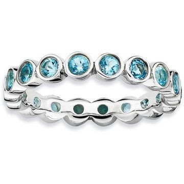 Stackable Expressions Blue Topaz Sterling Silver Ring