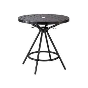 "Safco 30"" Cogo Steel Outdoor/Indoor Round Table - Black"
