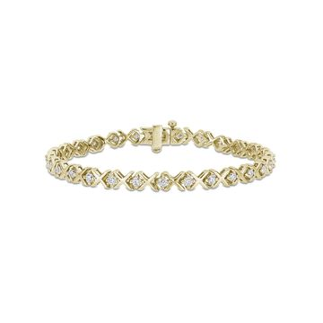 1-3/4 Carat T.G.W. Moissanite Yellow-Plated Sterling Silver Tennis Bracelet