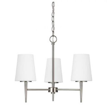 Sea Gull Lighting Driscoll Chandeliers, Brushed Nickel