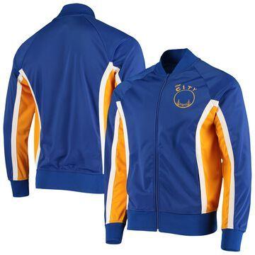 Mitchell & Ness Golden State Warriors Royal Champs Raglan Full-Zip Track Jacket