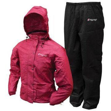 Frogg Togg Women's All Purpose Waterproof Rain Suit - Size XL, Cherry