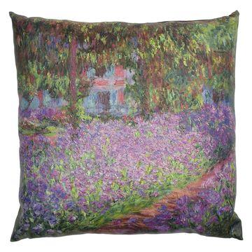 Oriental Furniture Monet Irises Decorative Pillow