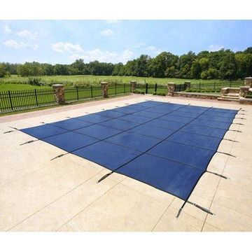 Blue Wave 14' x 28' Rectangular Mesh In-Ground Pool Safety Cover - Blue