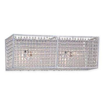 Metropolitan Lighting Saybrook 2-Light Vanity in Catalina Silver with Glass Beads