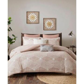 Ink+Ivy Ellipse Full/Queen 3 Piece Cotton Jacquard Duvet Cover Set Bedding