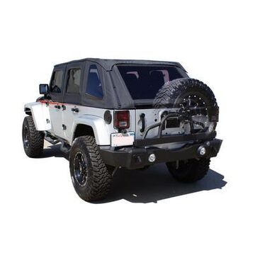 Rampage Recovery Rear Bumper with Swing Away Tire Carrier (Black) - 88606