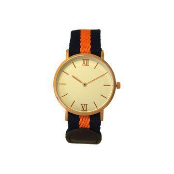 Olivia Pratt Womens Orange Strap Watch-60001