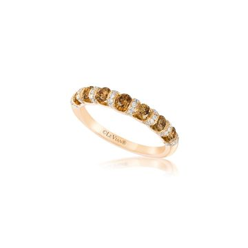 Le Vian Chocolatier Diamond and 14 Honey Gold Band Ring