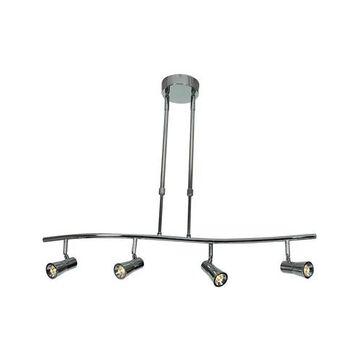Accesslighting 63064LEDD-BS Sleek 4Light Dimmable LED Spotlight Pendant, Brushed Steel