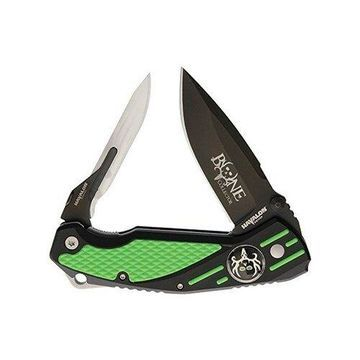 Havalon Knives Rebel Double Bladed Folding Knife- Green Havalon Knives Rebel Double Bladed Folding Knife- Green