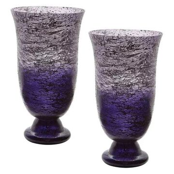 Lazy Susan Plum Ombre Flared Vases, Set Of 2