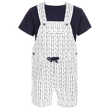 Baby Boys 2-Pc. T-Shirt & Shibori Shortall Set, Created for Macy's