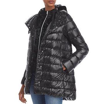 Herno Velvet Hood Puffer Coat