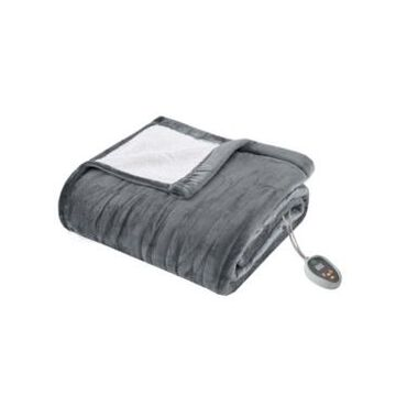 True North by Sleep Philosophy Ultra Soft Reversible Berber/Plush Electric King Blanket with Bonus Automatic Timer Bedding